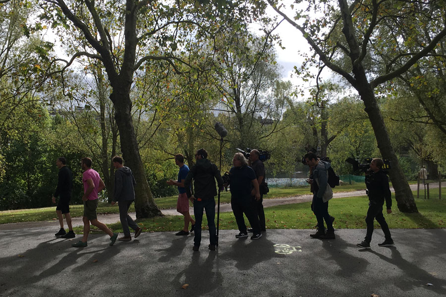 UK Fixer London location manager film crew shooting on Hampstead Heath