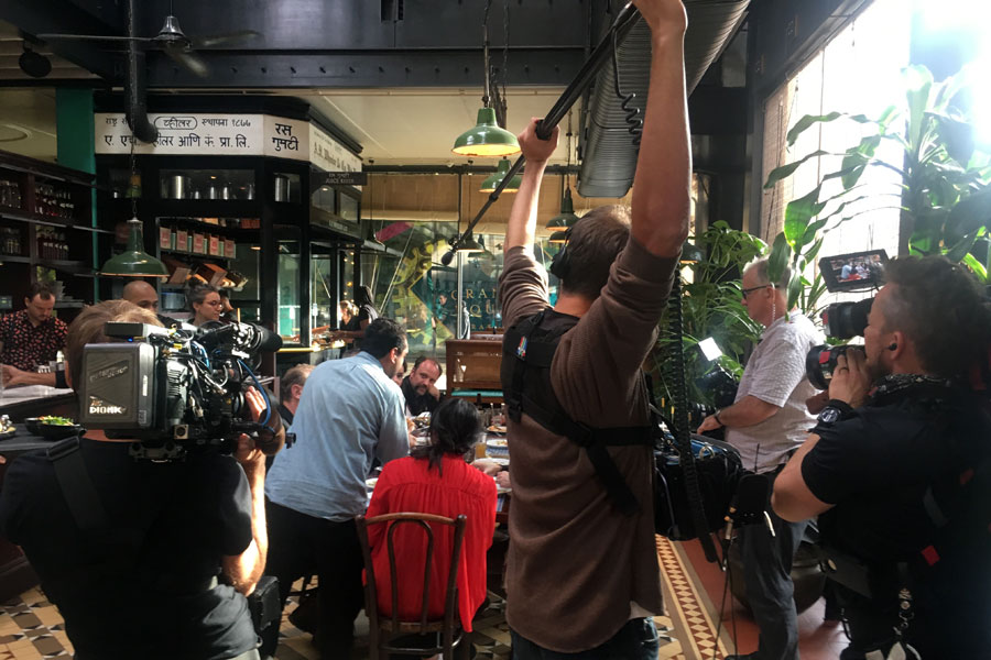UK Fixer London production manager film crew shooting in Dishoom Kings Cross 2