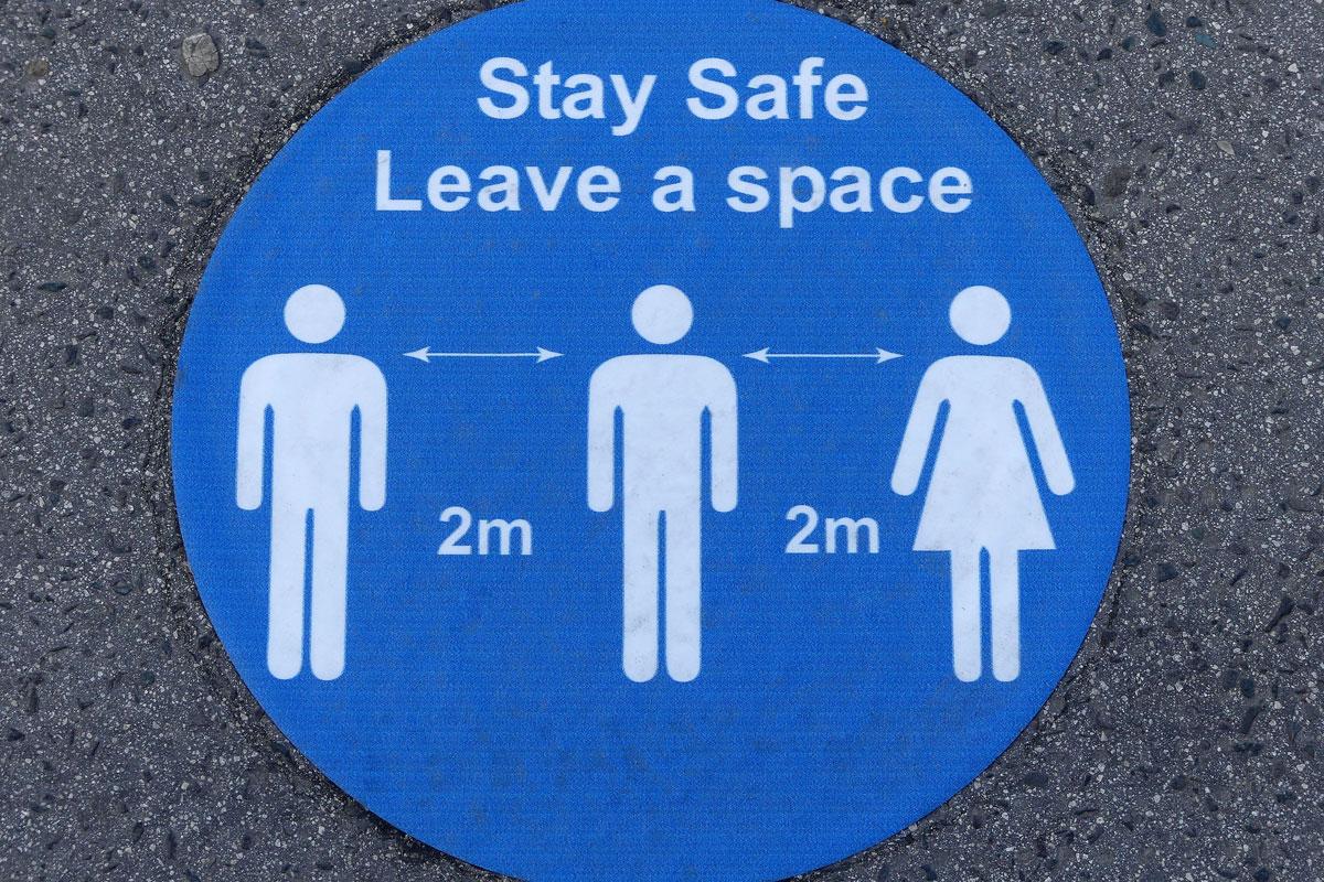 UK lockdown easing measures Stay Safe Sign